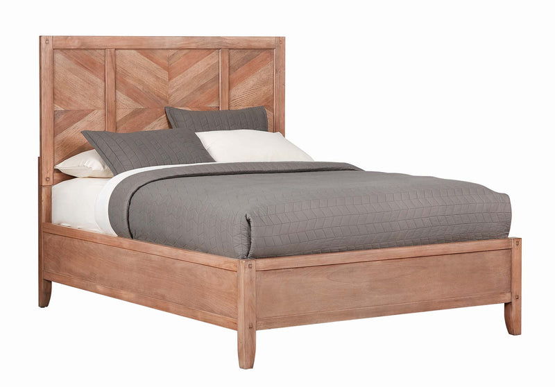 Coaster Auburn California King Bed with Chevron Inlay Design