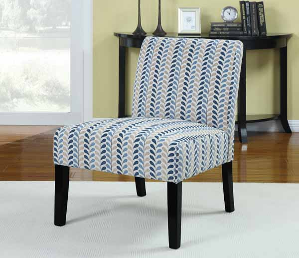 Coaster Accent Seating Armless Accent Chair Contemporary Furniture Style Leaf Pattern