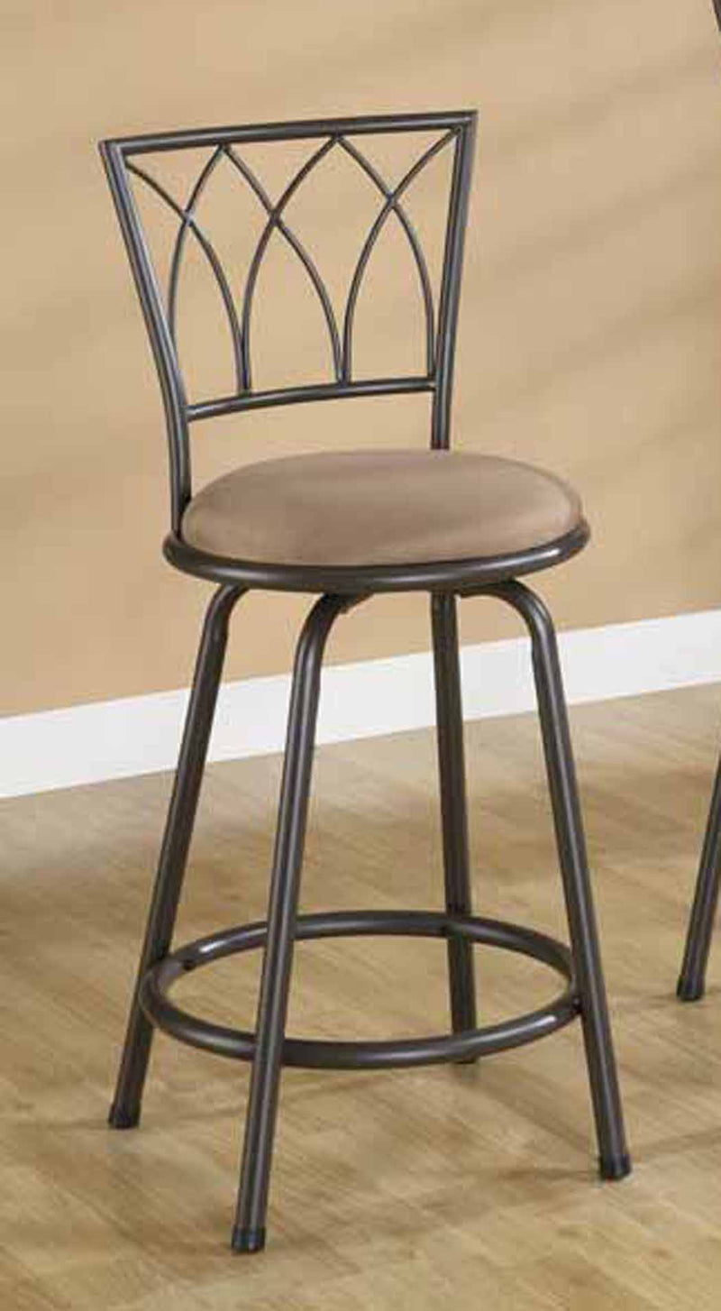 "Coaster Dining Chairs and Bar Stools 24"" Metal Bar Stool with Upholstered Seat"