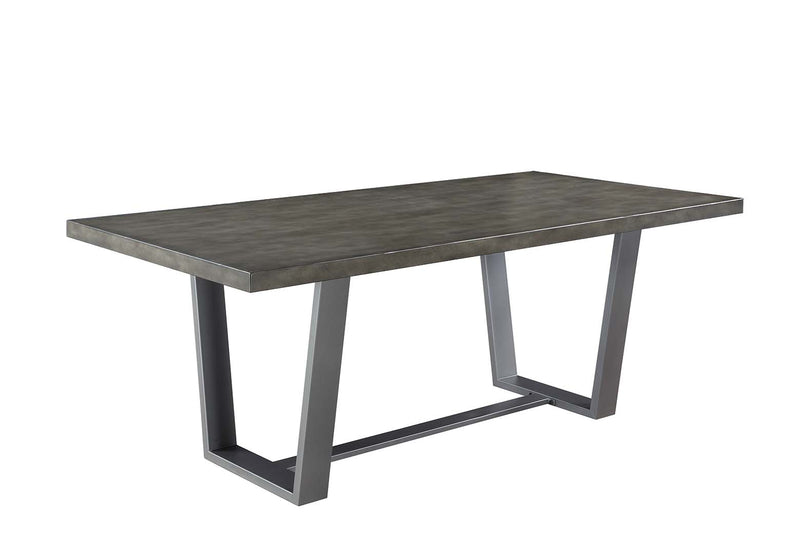 Coaster Hutchinson Modern Dining Table with Composite Concrete Top