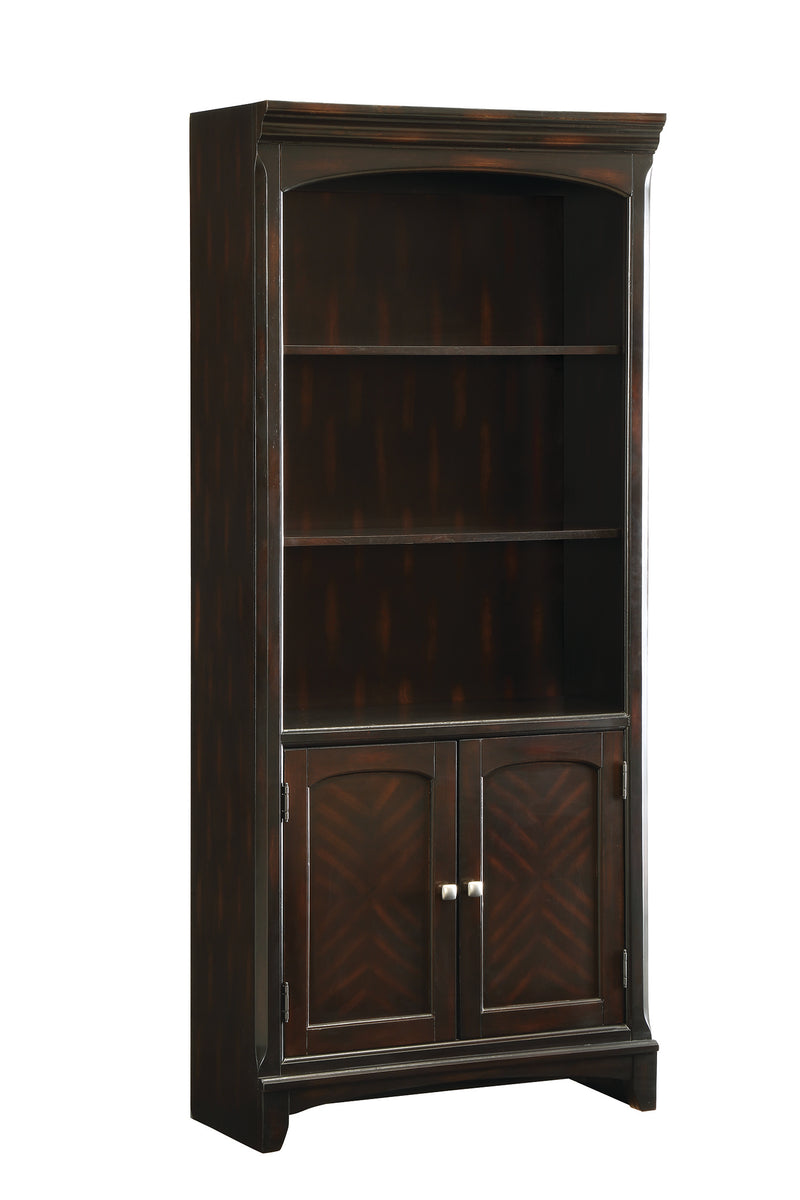 Coaster Garson Open Bookcase with Storage Cabinet Base