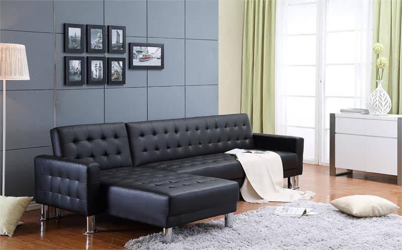 Thy-Hom Marsden Tufted Bi-Cast Vinyl 2 Piece Sectional