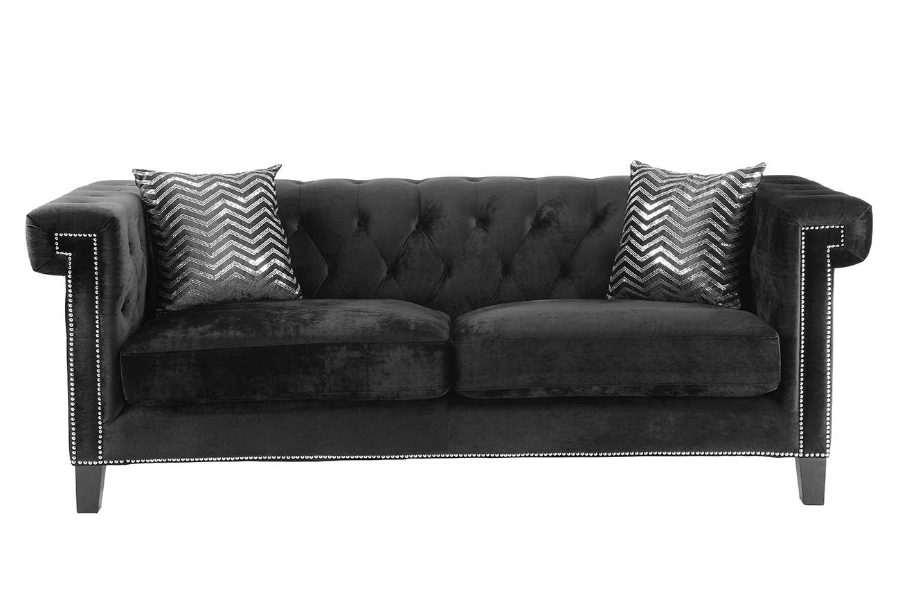 Coaster Reventlow Sofa With Greek Key Nailhead Trim Design