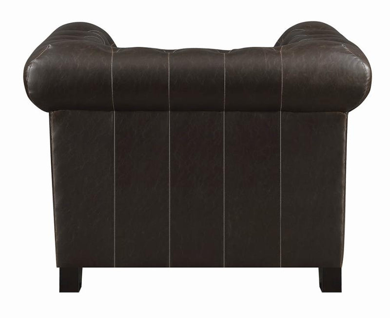 Coaster Roy Rolled Arm Tufted Chair