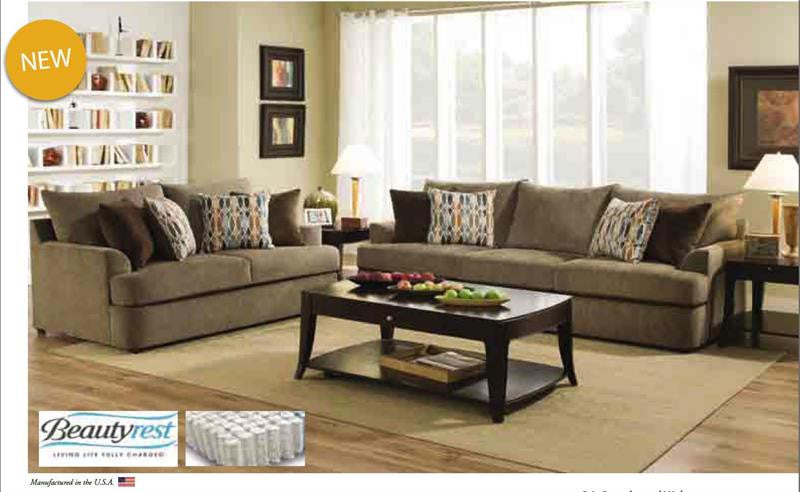 Universal Grandstand Flannel Sofa Living Room Collection
