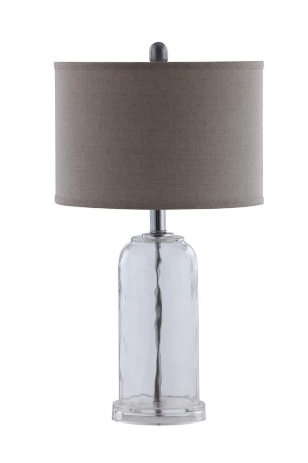 Coaster Table Lamps Glass Base Table Lamp with White Shade