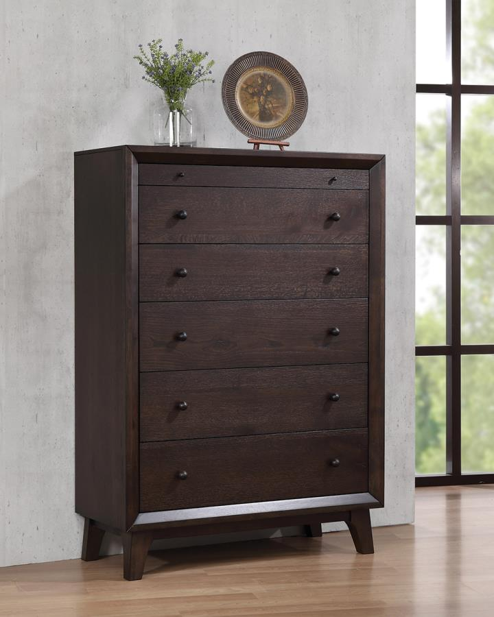 Coaster Bingham 6 Drawer Chest with Top Felt-Lined Drawer