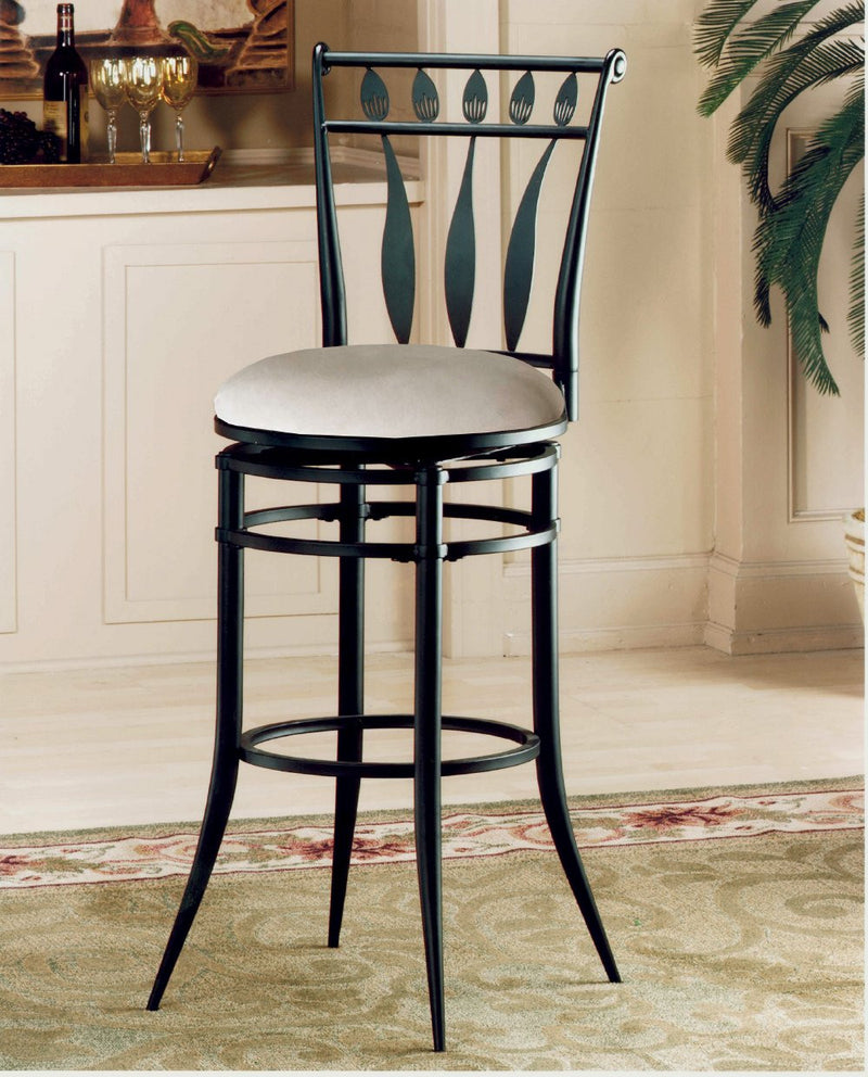 Hillsdale Hudson Stone Faux Suede Barstool