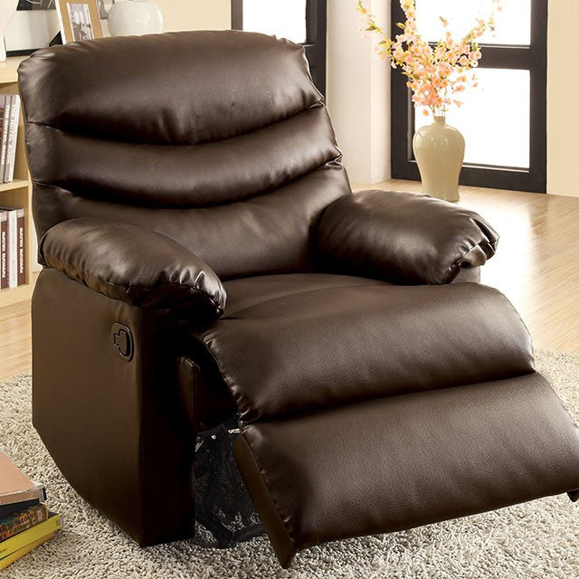 Furniture of America Pleasant Valley Bonded Leather Recliner Chair