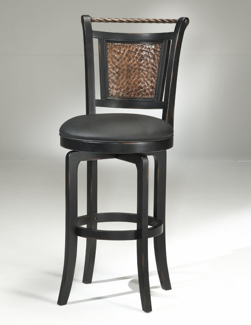 Hillsdale Norwood Black Swivel Stool