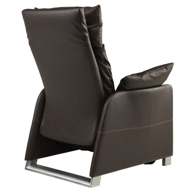 positive posture sora recliner chestnut back view