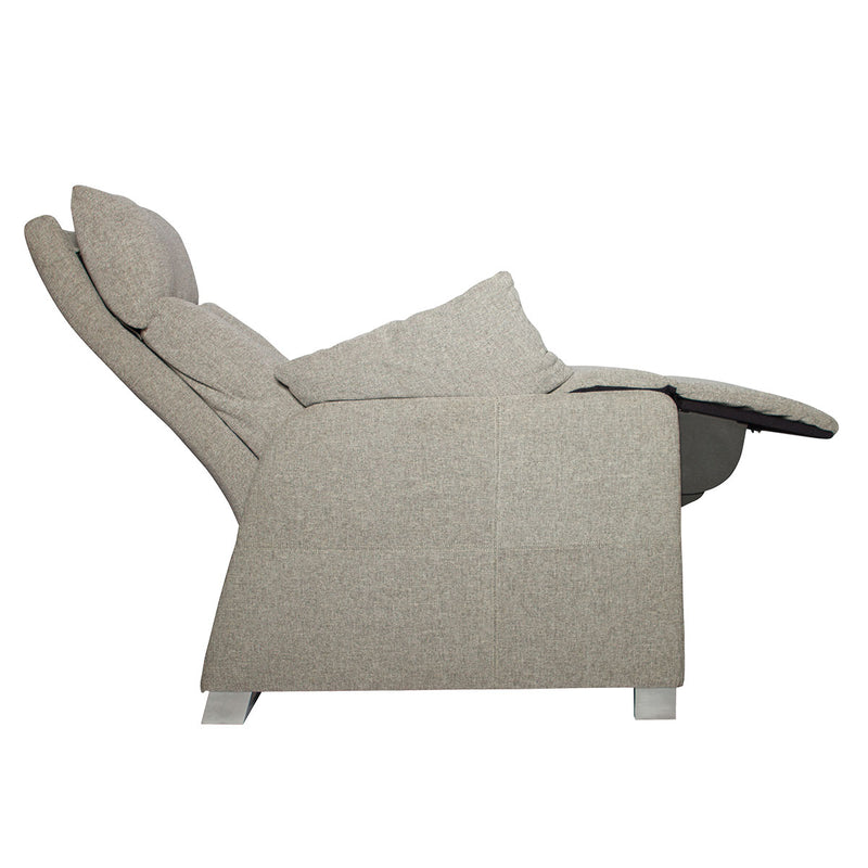 positive posture sora recliner oatmeal side view
