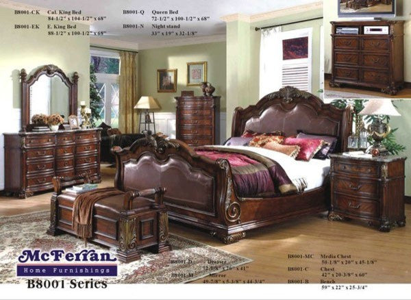 McFerran Home Furnishings B8000 Bedroom Set
