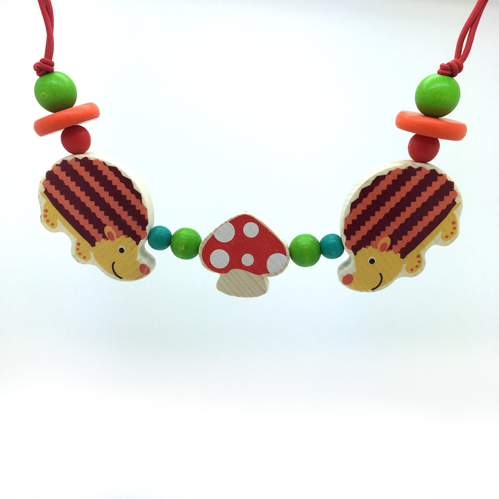 Animal Bead Pram String-Hess-Developmental toys for babies, infants and toddlers. Sustainably sourced, gender neutral, wooden baby toys.