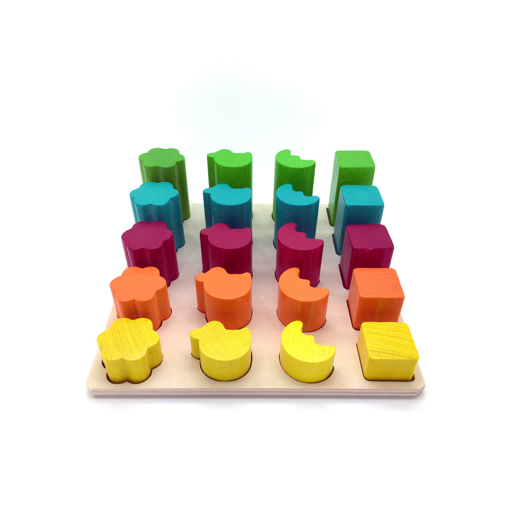 Colour, Shape and Size Sorting Game-Hess-Developmental toys for babies, infants and toddlers. Sustainably sourced, gender neutral, wooden baby toys.