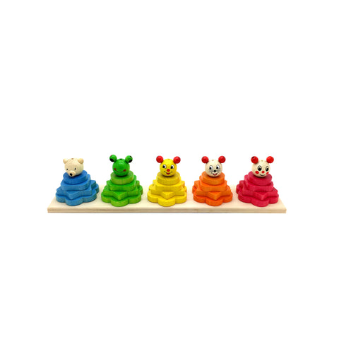 Colour, Shape and Size Stacking Game-Hess-Developmental toys for babies, infants and toddlers. Sustainably sourced, gender neutral, wooden baby toys.