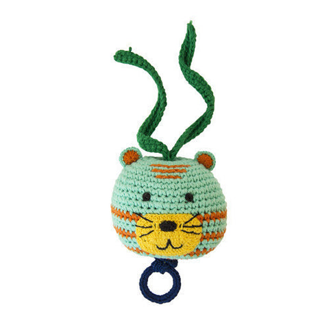 Crochet Music Animal-Global Affairs-Developmental toys for babies, infants and toddlers. Sustainably sourced, gender neutral, wooden baby toys.