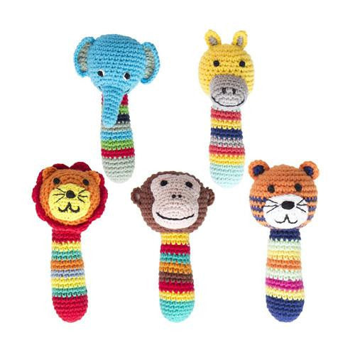 Crochet Safari Animal Rattles-Global Affairs-Developmental toys for babies, infants and toddlers. Sustainably sourced, gender neutral, wooden baby toys.