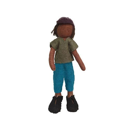 Felt Doll- Aba from Chile-Papoose Toys-Developmental toys for babies, infants and toddlers. Sustainably sourced, gender neutral, wooden baby toys.