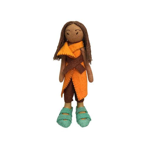 Felt Doll- Hiro from Japan-Papoose Toys-Developmental toys for babies, infants and toddlers. Sustainably sourced, gender neutral, wooden baby toys.