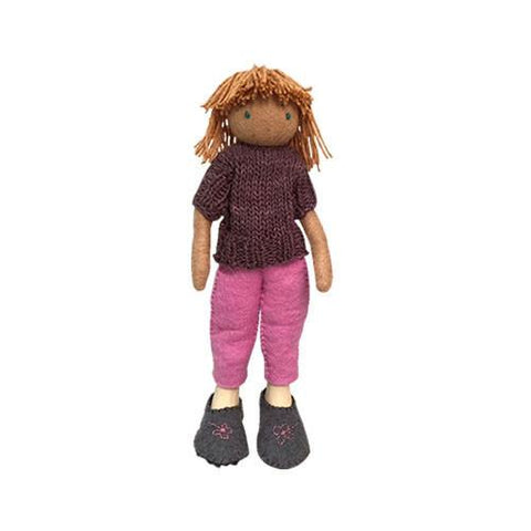 Felt Doll- Mika from Sweden-Papoose Toys-Developmental toys for babies, infants and toddlers. Sustainably sourced, gender neutral, wooden baby toys.