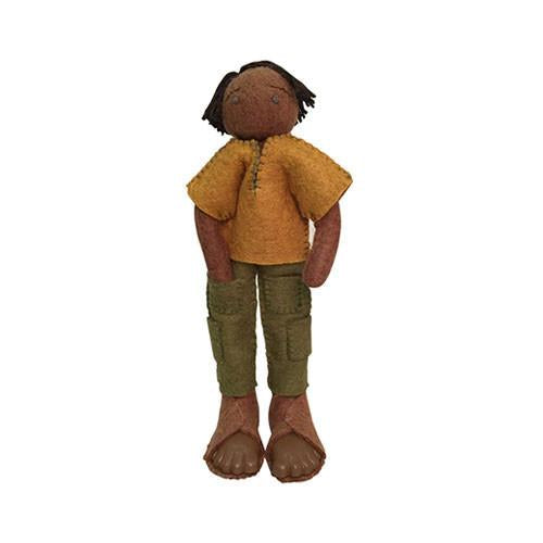 Felt Doll- Shikari from Nepal-Papoose Toys-Developmental toys for babies, infants and toddlers. Sustainably sourced, gender neutral, wooden baby toys.