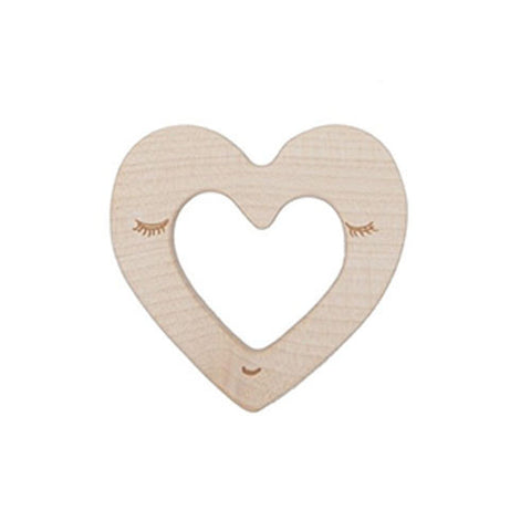 Heart Teether-Wooden Story-Developmental toys for babies, infants and toddlers. Sustainably sourced, gender neutral, wooden baby toys.