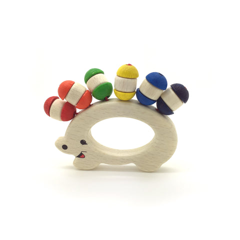 Hedgehog Rattle-Hess-Developmental toys for babies, infants and toddlers. Sustainably sourced, gender neutral, wooden baby toys.