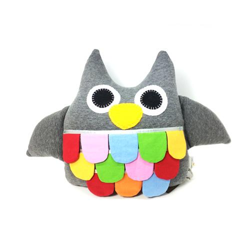 Hoot the Owl- Grey-Aciu Paciu-Developmental toys for babies, infants and toddlers. Sustainably sourced, gender neutral, wooden baby toys.