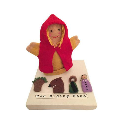 Little Red Riding Hood and Puppets-Papoose Toys-Developmental toys for babies, infants and toddlers. Sustainably sourced, gender neutral, wooden baby toys.