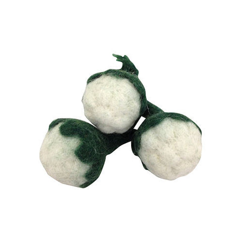 Mini Cauliflower Felt Play-Set-Papoose Toys-Developmental toys for babies, infants and toddlers. Sustainably sourced, gender neutral, wooden baby toys.
