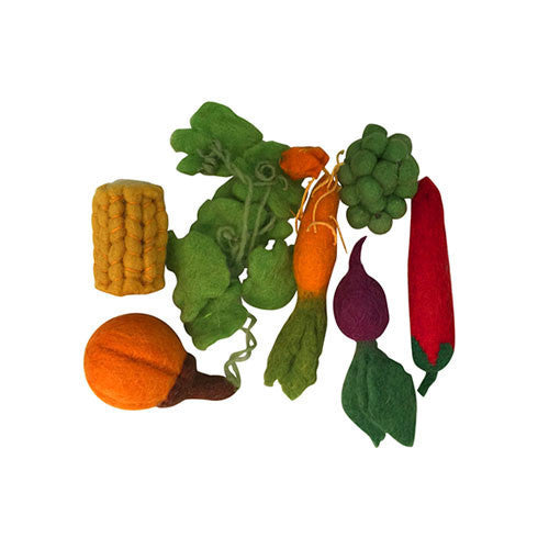 Mini Vegetable Felt Play-Set-Papoose Toys-Developmental toys for babies, infants and toddlers. Sustainably sourced, gender neutral, wooden baby toys.