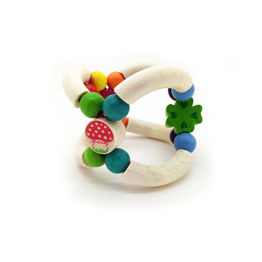 Mushroom Rattle-Hess-Developmental toys for babies, infants and toddlers. Sustainably sourced, gender neutral, wooden baby toys.