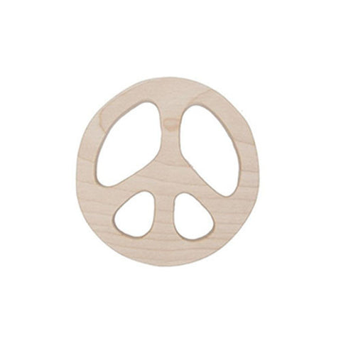 Peace Teether-Wooden Story-Developmental toys for babies, infants and toddlers. Sustainably sourced, gender neutral, wooden baby toys.