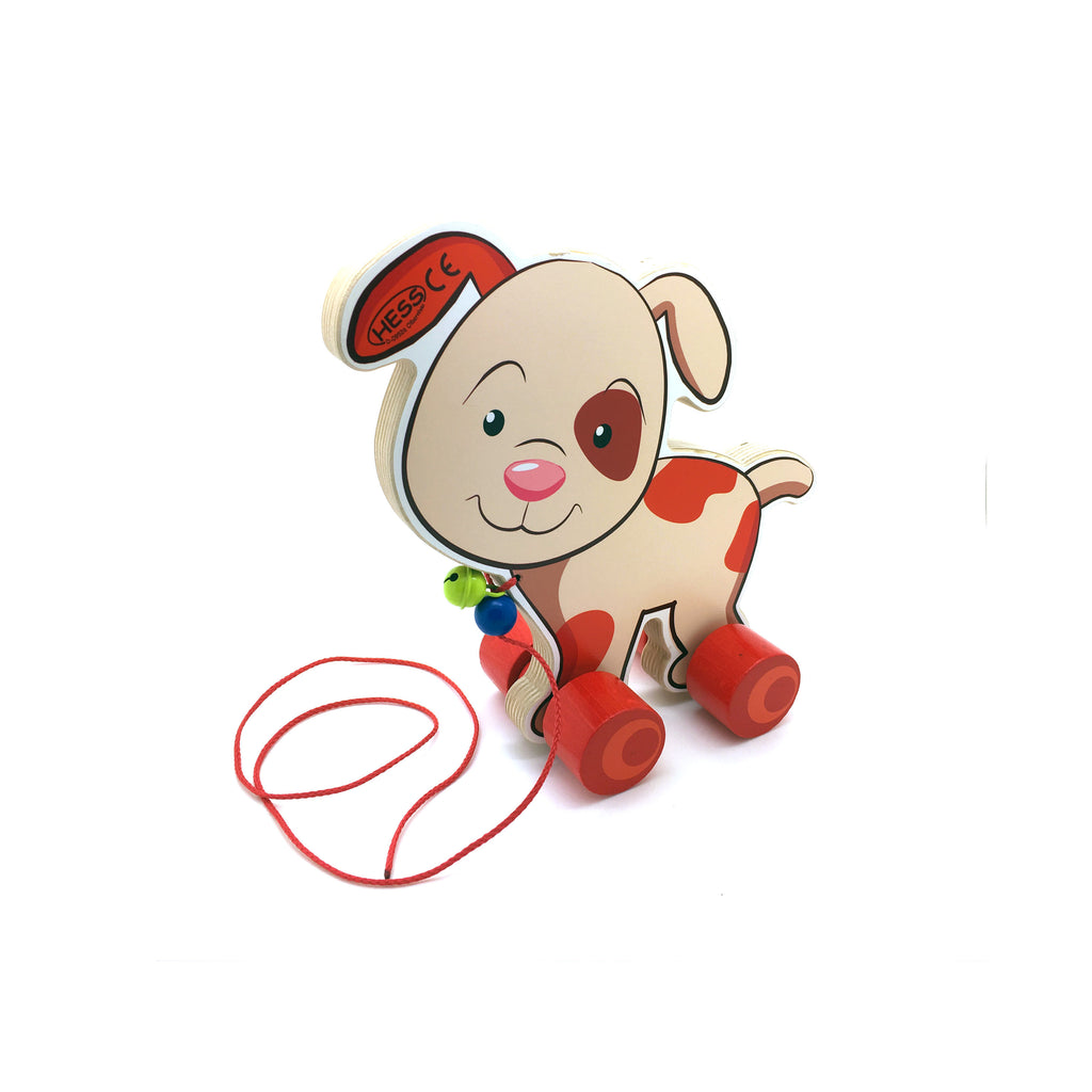 Pull-Along Puppy-Hess-Developmental toys for babies, infants and toddlers. Sustainably sourced, gender neutral, wooden baby toys.