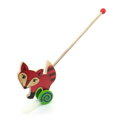 Push Along Toy - Fox-Hess-Developmental toys for babies, infants and toddlers. Sustainably sourced, gender neutral, wooden baby toys.