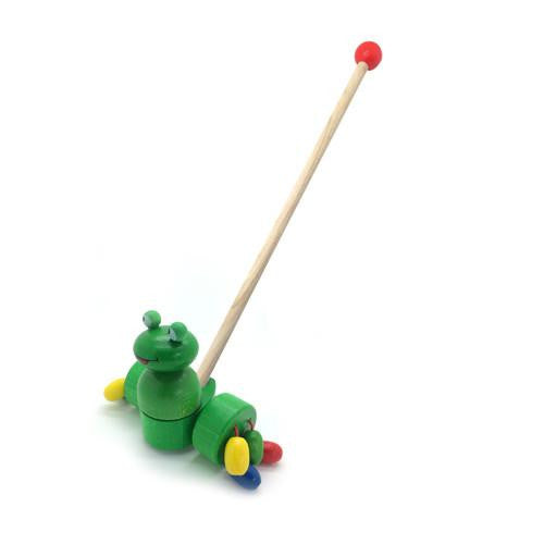 Push Along Toy - Frog-Hess-Developmental toys for babies, infants and toddlers. Sustainably sourced, gender neutral, wooden baby toys.