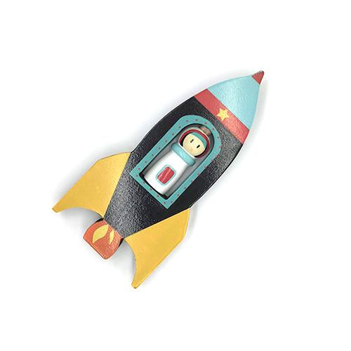Space Rocket Spinner-Le Toy Van-Developmental toys for babies, infants and toddlers. Sustainably sourced, gender neutral, wooden baby toys.