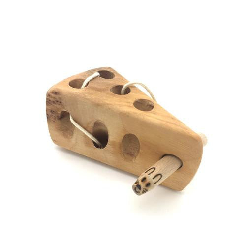 Thread Mouse-Holz-Bi-Bah-Butze-Developmental toys for babies, infants and toddlers. Sustainably sourced, gender neutral, wooden baby toys.