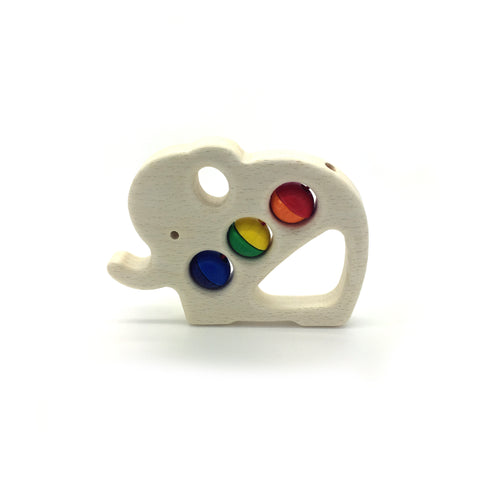 Wooden Animal Rattle-Hess-Developmental toys for babies, infants and toddlers. Sustainably sourced, gender neutral, wooden baby toys.