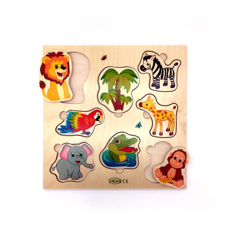 Wooden Puzzle-Hess-Developmental toys for babies, infants and toddlers. Sustainably sourced, gender neutral, wooden baby toys.
