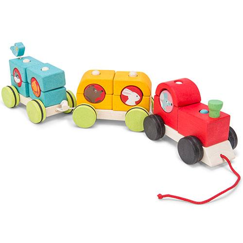 Woodland Express Stacking Train-Le Toy Van-Developmental toys for babies, infants and toddlers. Sustainably sourced, gender neutral, wooden baby toys.