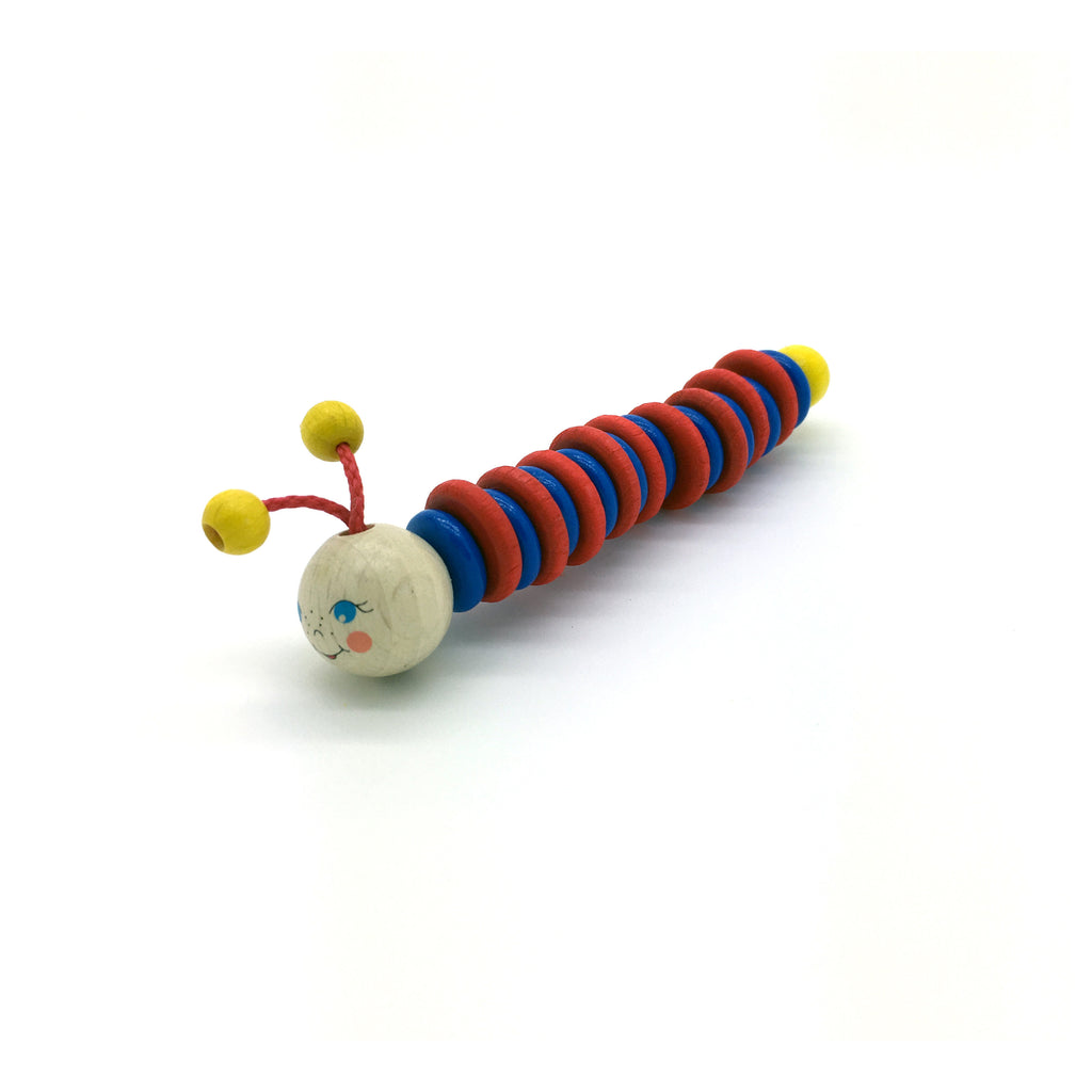 Worm Grasping-Toy-Hess-Developmental toys for babies, infants and toddlers. Sustainably sourced, gender neutral, wooden baby toys.
