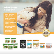 Skin & Coat Supplement for Dogs with Organic Hemp, Omega 3, 6 & 9