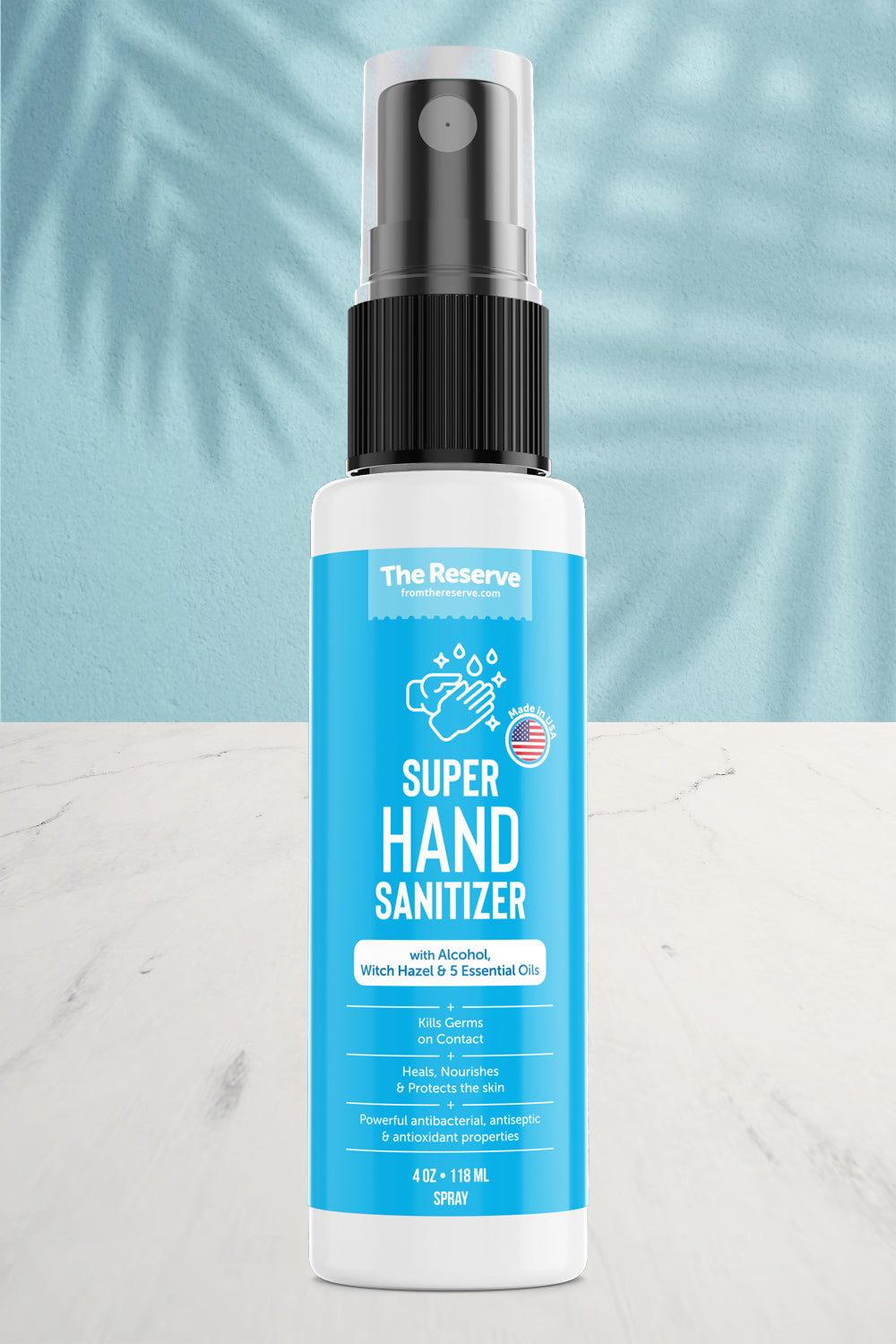 Super Hand Sanitizer - Alcohol & Essential Oils