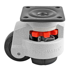 "Leveling Casters | FootMaster GD-100F | Top Plate Mount with 3"" Wheel & 1,650 Lb Capacity"