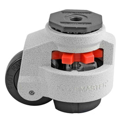 "Leveling Casters | FootMaster GD-100S | 16mm Stem Mount with 3"" Wheel & 1,650 Lb Capacity"