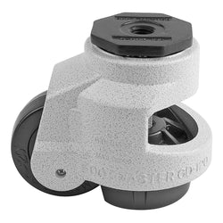 "Leveling Casters | FootMaster GD-120S | 16mm Stem Mount with 3"" Wheel & 2,200 Lb Capacity"