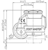FootMaster GD-40S-BLK Drawing Side