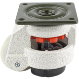 "Leveling Casters | FootMaster GD-60F-UW | Top Plate Mount with 2"" Poly Wheel & 550 Lb Capacity"